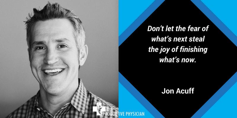 Jon Acuff Finish Quote