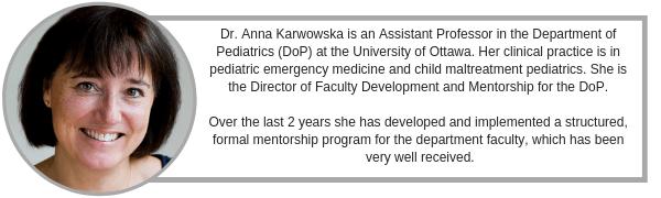 Mentoring: Dr Anna Karwowska